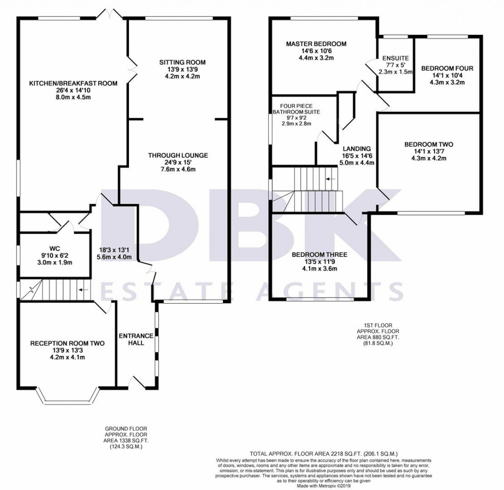 Floorplans For Jersey Road, Osterley, TW7