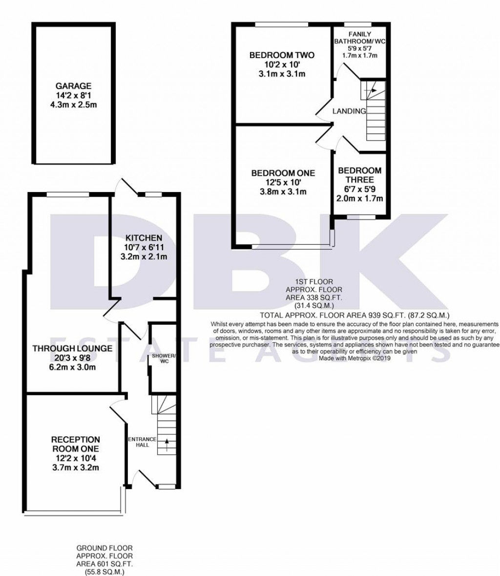 Floorplans For Wentworth Road, Southall, UB2