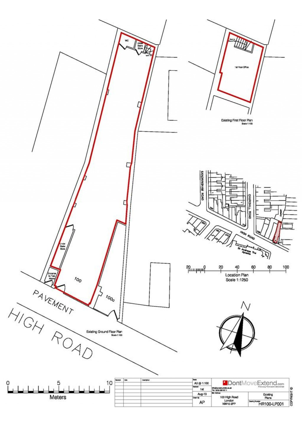 Floorplans For High Road, Willesdon, NW10