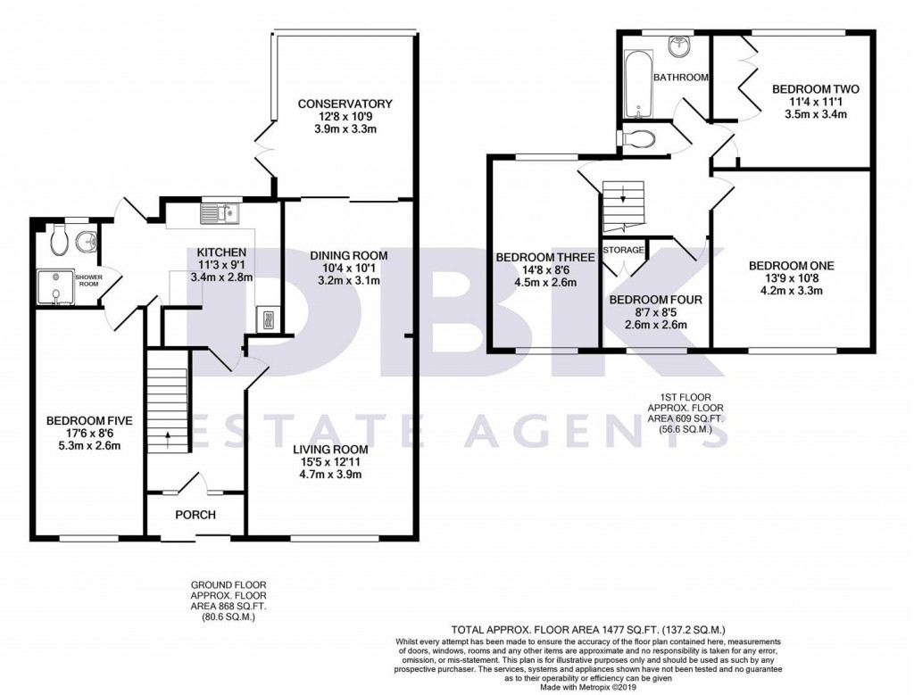 Floorplans For Oakfield Road, Ashford, TW15