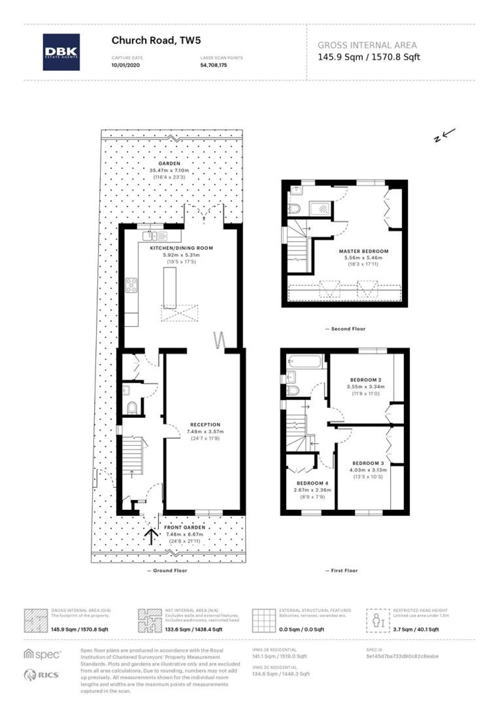 Floorplans For Church Road, Heston, TW5