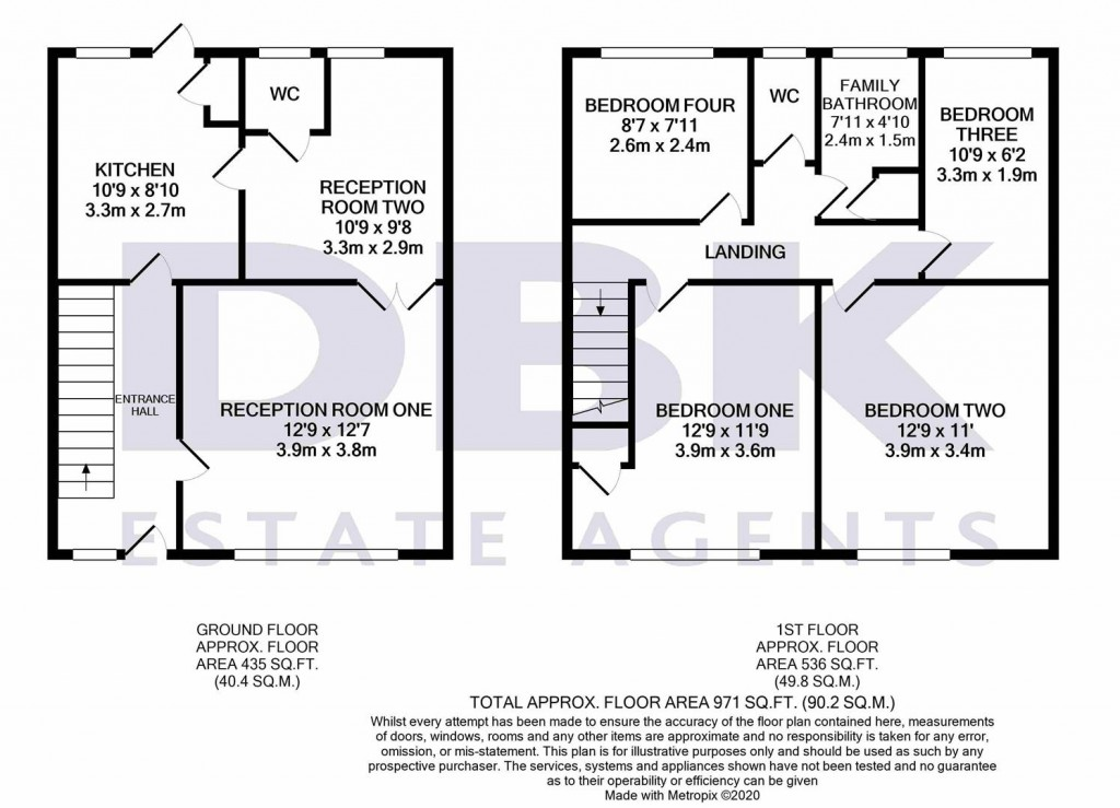 Floorplans For North Hyde Lane, Norwood Green, UB2